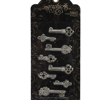 >Staples Ornate Metal Keys 1.375