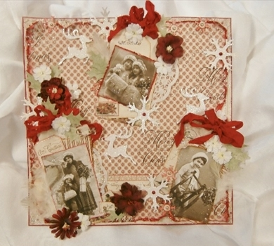 >Vintage Christmas Tag Layout (Pattern & Tutorial)