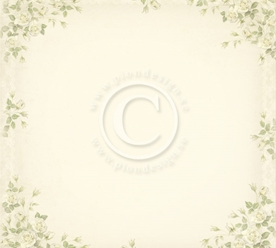 >Vintage Wedding - Rose 12x12