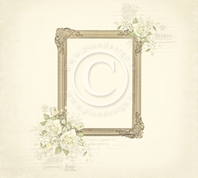 >Vintage Wedding - Photo frame 12x12