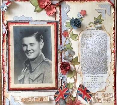 >WW 2 & V E Day double Scrapbook Page