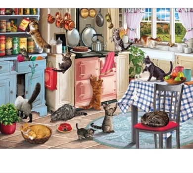>Cats in the Kitchen - 1000 piece