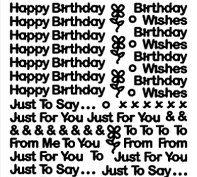 >Peel-Off Stickers Tiny Birthday Mix Silver