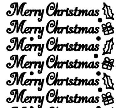 >Peel-Off Stickers Merry Christmas Silver