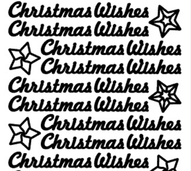 >Peel-Off Stickers Christmas Wishes Silver
