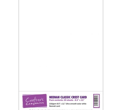 >Neenah Classic Crest Card Pack - Solar White 20 sheets by Crafter's Companion