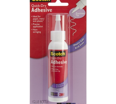 >Scotch Quick Dry Adhesive 2oz